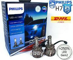 H7 LED PHILIPS X-tremeUltinon gen2 6000K +250% Car Headlight Bulbs PX26d +CANbus