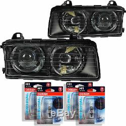 Halogen Scheinwerfer Set für BMW 3 E36 Bj. 09.90-02.98 inkl. Osram H1+H1