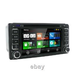 Head Unit Fits For Toyota Universal Car Stereo Radio GPS Navi BT DVD MP3 SD RDS