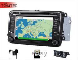 Head Unit GPS SATNAV Bluetooth For VW Transporter T5 Jetta Passat Golf MK5 OBDII