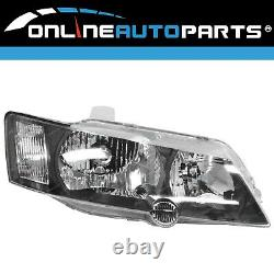 Headlights BLACK PAIR LH+RH Head Lamps SS suits Holden Commodore VY 20022004