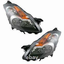 Headlights Headlamps Left & Right Lamp Pair Set NEW for 07-09 Nissan Altima