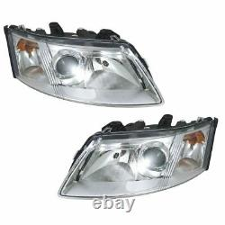 Headlights Headlamps Left & Right Pair Set NEW for 03-07 Saab 9-3
