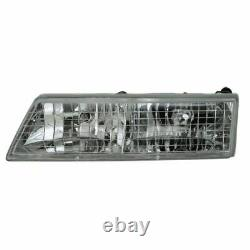 Headlights Headlamps Left & Right Pair Set NEW for 95-97 Mercury Grand Marquis