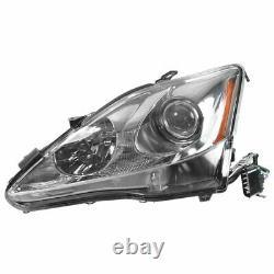 Headlights Headlamps Left & Right Pair Set for 06-08 Lexus IS250 IS350