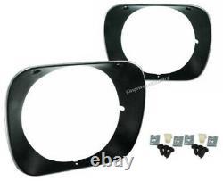 Holden Headlight Surround Rim PAIR Black HQ GTS SS Monaro NEW head light
