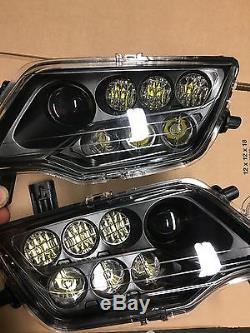 Honda Pioneer Black Led Headlights Kit / Pair- Pioneer 500 /700 1000 Mod