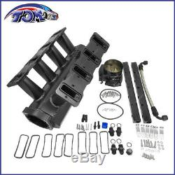 Intake Manifold &Throttle Body For Cathedral Port LS1/LS2/LS6 heads 102mm Black