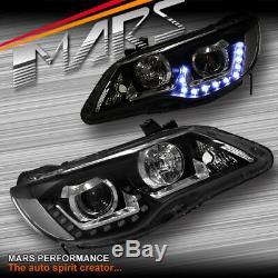 JDM LED DRL Projector Head Lights for Honda Civic FD1 FD2 Sedan 06-12