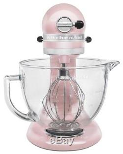 KitchenAid 5-Quart Artisan Design Series Tilt-Head Stand Mixer Silk Pink