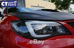 LED 3D Stripe DRL Projector Head Lights for Subaru Impreza WRX 08-13 HALOGEN TYP