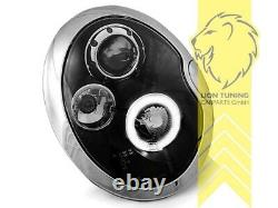 LED Angel Eyes Scheinwerfer für Mini Cooper One R50 R52 R53 schwarz