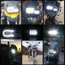 LED Scheinwerfer Headlight DRL für BMW F650GS F700GS F800GS F800R E-Prüfzeichen