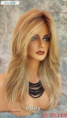 Lace Front Monotop Designer Wig Rooted Blond Blond Bombshell Turn Heads 590
