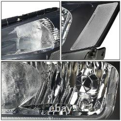Led Drlfor 03-07 Honda Accord Smoked Housing Clear Corner Headlight Head Lamps