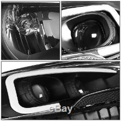 Led Drlfor 13-16 Ford Escape Black/amber Corner Projector Headlight Head Lamp