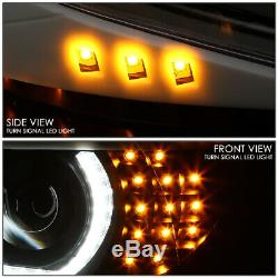 Led U-halo For 06-08 Bmw E90 3-series 4dr Projector Headlight Head Lamp Black
