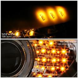 Led U-halo For 06-08 Bmw E90 3-series 4dr Projector Headlight Head Lamp Chrome