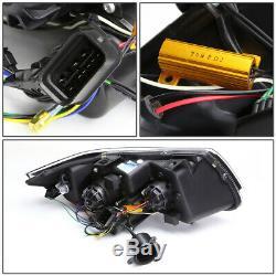 Led U-halo For 09-12 Bmw E90 3-series 4dr Projector Headlight Head Lamp Black