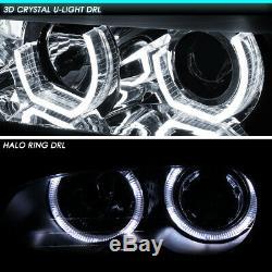 Led U-halo For 09-12 Bmw E90 3-series 4dr Projector Headlight Head Lamp Chrome