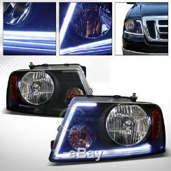 Lumen Optics Led Bar Black Head Lights Lamps Signal Amber 2004-2008 Ford F150