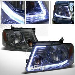 Lumen Optics Led Bar Smoke Head Lights Lamps Signal Amber 2004-2008 Ford F150