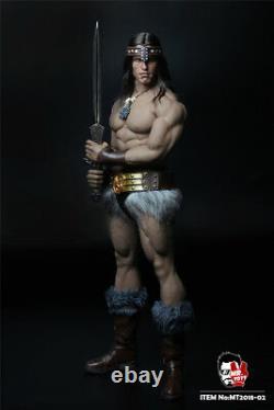 MR. TOYS MT2018-02 1/6 Conan Head Sculpt Clothing Suit Arnold Version Action Figu