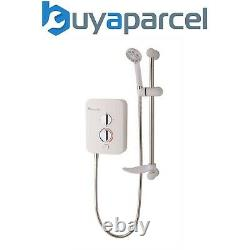 MX GC8 Intro 950 9.5kw Electric Shower with Push Button Start + Riser + Head