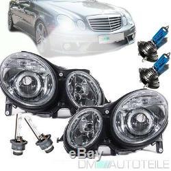 Mercedes W211 S211 Xenon Scheinwerfer Rechts Links 02-06 D2S/H7 Facelift Design
