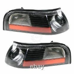 Mercury Grand Marquis 2003 2004 Black Headlights Head Corner Lights Lamps