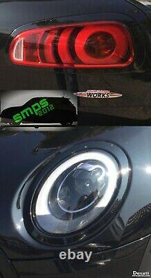 Mini F54 Clubman Front & Rear Light Covers Gloss Black Head & Taillight Trims