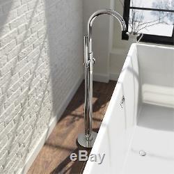 Modern Bathroom Taps Basin Bath Filler Shower Mixer Chrome Round Basin Sink Tap