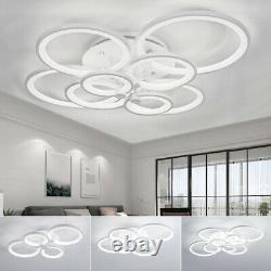 Modern Lamp Square/Ring LED Ceiling Light Chandelier Lights Living Dining Room