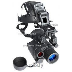 Monocular Night Vision IR Game Tracker Goggle Head Mounted Kit Security Gen
