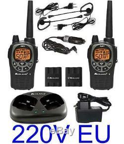 NEU WALKIE TALKIE MIDLAND GXT1000 56KM 5W+ KONVERTER 220V + HEADSET Funkgeräte
