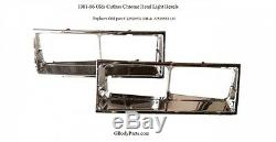 NEW 1981-86 Oldsmobile Cutlass Supreme Brougham Chrome Head light Bezel Set