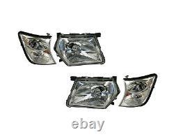 New Head Light Corner Lamp Suit Nissan Patrol Gu Y61 2001 2004 Pair Lh & Rh