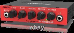 New TC-Electronic BAM200 200 Watt Bass Guitar Amplifier Head