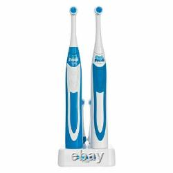 OralFresh Pro20 Electric Rechargeable Twin Rotary Toothbrushes Sonic Clean Heads