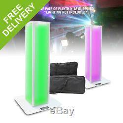 Pair Equinox Moving Head Plinth Podium Kit 1M Truss DJ Disco Stand + Carry Bags