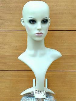 Professional Female Mannequin Head Display Hat Wig Jewelry Headphones Hats