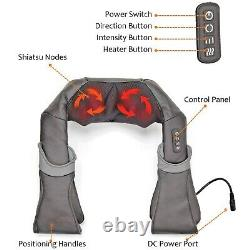 PureMate Shiatsu Heated Neck Massager, Shoulder Massager with Heat and kneading