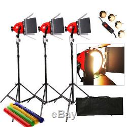 RHKIT3A 2400W Video Red Head Light 3 x 800w Video Lighting DIMMER built in