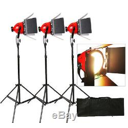 RHKITN3 Video Studio Continuous Red Head Light 800w Video Lighting 3 set
