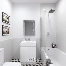 ROUND or SQUARE TWIN HEAD THERMOSTATIC SHOWER MIXER CHROME BATHROOM BATH UNIT