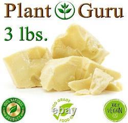 Raw Cocoa Butter 3 lbs 100% Pure Organic Unrefined Virgin Food Grade Cacao Bulk