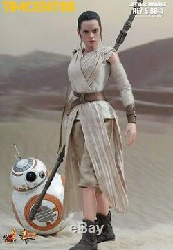 Ready! Hot Toys MMS337 Star Wars EP VII The Force Awakens 1/6 Rey and BB-8 set