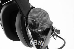 Rugged Radios Behind the Head Carbon Fiber NASCAR Racing Scanner Two Way Headset