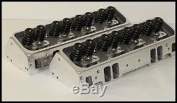 SBC CHEVY 327 350 383 NKB-200cc ALUMINUM HEADS 64cc ANGLE PLUG NKB-272-A