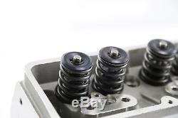 SBC Chevy 350 Complete Angle Aluminum Cylinder Heads 220cc 64 Studs Guide Plates